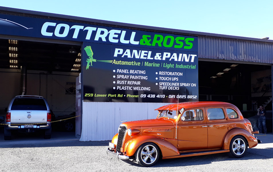 Car Painting at Cottrell & Ross Whangarei
